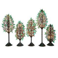 Twinkling Parisian Park Trees Kit (set of 5)