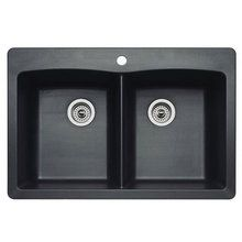 "View the Blanco 440220 Diamond Equal Double Basin Silgranit II Kitchen Sink 33"" x 22"" at FaucetDirect.com."