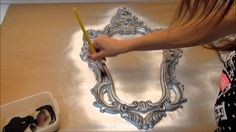 Decoupage Tutorial, Decoupage Paper, Funky Painted Furniture, Paint Furniture, Hobbies And Crafts, Diy And Crafts, Metal Engraving, Antique Boxes, Wood Wall Decor