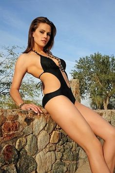 Athletics' pitcher Brandon McCarthy's wife Amanda is a model.  Vote for Amanda at http://www.fantasybaseballdugout.com/hot-wives-baseball/baseball-hot-wives-2012-vote/