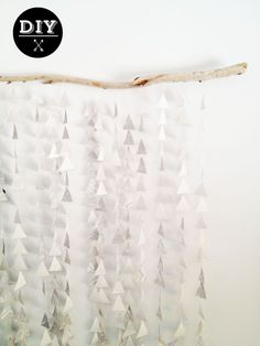 Poppytalk: DIY: Paper Garland Mobile/Backdrop