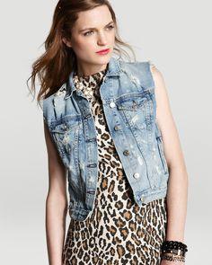 rag & bone/JEAN Jean Vest - The Vest in Tattered | Bloomingdales