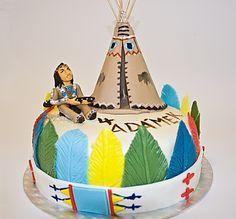 Vinnetou Indian cake Indian Cake, Birthday Cake, Birthday Stuff, Nativity, Christmas Ornaments, Holiday Decor, Native American, Cute, Desserts