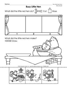 Little Red Hen Printable Worksheets