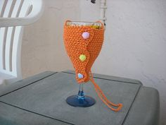 wine glass holder, not crochet, tho.