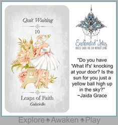 Enchanted Lotus - 45 Oracle Cards for Zen Inspired Living Page Printed Book (plus a bonus 124 page Ebook! Leap Of Faith, Oracle Cards, Decks, Enchanted, Poppies, Zen, Advice, Unique Jewelry, Handmade Gifts