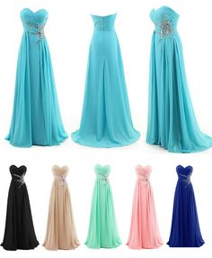 Dresstells® Women's Sweetheart Beading Floor-length Chiffon Prom Dress Bridesmaid Dress