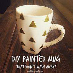 Food Safe Personalized Mugs One Artsy Mama Kids Gifts To Make - Diy creative painted mug