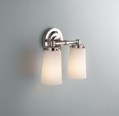 Restoration Hardware Asbury Sconce  Use one double unit over each sink basin