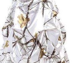 halter white camouflage wedding dresses with veil