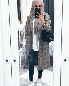 Style Outfits Casual Hijab Ideas For 2019 Hijab Fashion Summer, Modern Hijab Fashion, Street Hijab Fashion, Hijab Fashion Inspiration, Islamic Fashion, Muslim Fashion, Mode Inspiration, Decor Inspiration, Casual Hijab Outfit