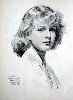 """""""Sketch of my daughter"""" // by Andrew Loomis"""