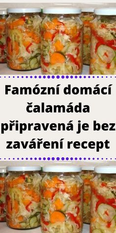 Czech Recipes, Ethnic Recipes, Snack Recipes, Cooking Recipes, Home Canning, Preserving Food, Marmalade, Pickles, A Table
