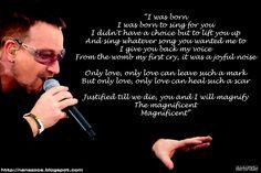 U2 Magnificent lyrics
