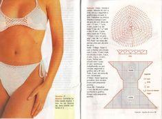 charted patterns TRICO y CROCHET-madona-mía: Patrones bikinis a ganchillo ( crochet)