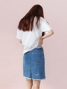 Denim Damege Skirt