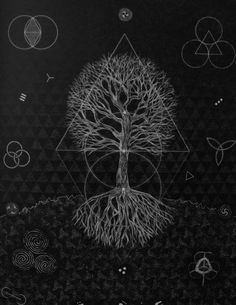 Sacred Geometry of a Tree of Life.