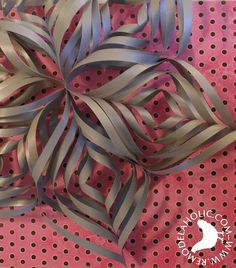 3D paper ornaments and snowflakes