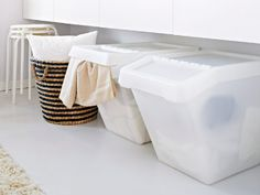 IKEA offers everything from living room furniture to mattresses and bedroom furniture so that you can design your life at home. Check out our furniture and home furnishings! Linen Closet Organization, Small Space Organization, Ikea Laundry, Laundry Baskets, Ikea Portugal, Coffee Table Inspiration, Kitchen Utilities, Apartment Projects, Ikea Home