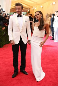 David Beckham in Ralph Lauren and Victoria Beckham in a dress from her own collection. Met Gala Red Carpet Arrivals - NYTimes.com