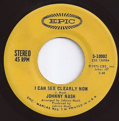 #1 on Billboard / I Can See Clearly Now / Johnny Nash