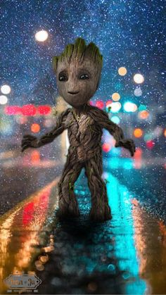 baby groot in the streets #SmartphoneWallpapers