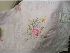Hand Embroidered and Lace Tablecloth with Napkins