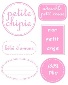 Etiquettes filles, enfants Practical Gifts, Unusual Gifts, Sticker Paper, Stickers, Mail Art, Mini Albums, Bullet Journal, Printables, Messages