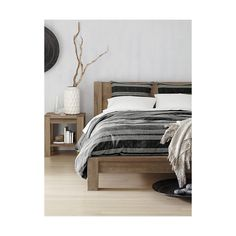 Shop Big Sur Smoke Queen Bed.   The rustic beauty of Big Sur lies in its naturally occurring splits, cracks and knots, and in its intricate, narrow grain produced by a colder climate.  The Big Sur Smoke Queen Bed is a Crate and Barrel exclusive.