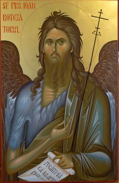 Byzantine Art, John The Baptist, Jean Baptiste, Princess Zelda, Saints, Fictional Characters, Orthodox Icons