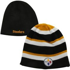 Pittsburgh Steelers Iconic Reversible Knit Hat 12ee76899