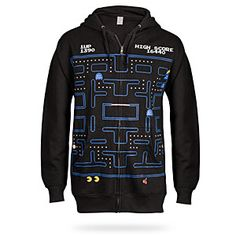 This hoodie has slightly more dots than it should. It possibly could trump that perfect score of 3,333,360 points (achieved by eating every fruit, energizer, dot and ghost possible from Level 1 through 256).