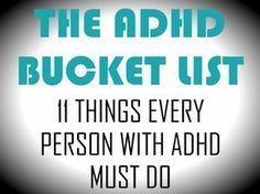 The ADHD Bucket List