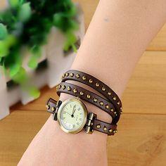 Wrap belt watch bracelet