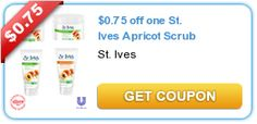 New $.75/1 St. Ives Apricot Scrub Coupon!