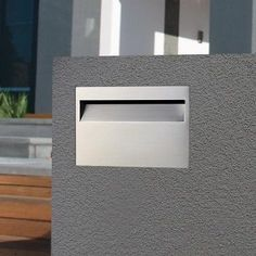 BRICK IN 304 STAINLESS Letterbox BR02 Mailbox INCLUDES Expanding SLEEVE KEY LOCK
