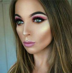 Elegant Makeup, Halloween Face Makeup, Lipstick, Beauty, Classy Makeup, Sleek Makeup, Lipsticks, Beauty Illustration