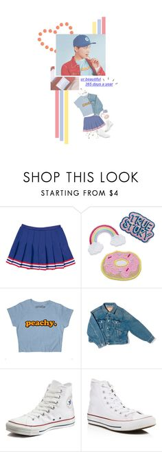 """.:*★""My Heart is Dancing with You"" ★・*:"" by lilpandabear ❤ liked on Polyvore featuring GET LOST, Balenciaga and Converse"