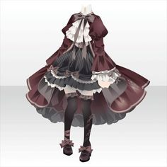 txtSearch=&part=&type=&color=&sort= Manga Clothes, Drawing Anime Clothes, Dress Drawing, Fashion Design Drawings, Fashion Sketches, Anime Outfits, Cool Outfits, Kleidung Design, Anime Girl Dress