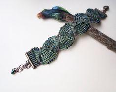 Micro macrame bracelet  Olive Green by MartaJewelry on Etsy, $38.00