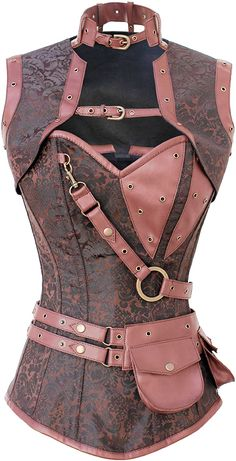 Clockwork Hipster Engine Gold-Brown Corset #thevioletvixen