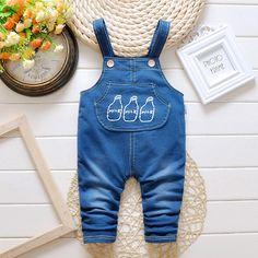 Bébé Jeans Pantalon Denim Salopette 2016 Nouvelle Lettre Enfants Infantile Salopette de Jeans Garçon Enfants Bébé Vêtements Fille Garçon Jeans pantalon dans Pardessus de Produits pour bébés sur AliExpress.com | Alibaba Group