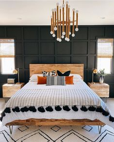 Home Interior Bedroom .Home Interior Bedroom Dream Bedroom, Home Decor Bedroom, Black Master Bedroom, Modern Boho Master Bedroom, Dark Cozy Bedroom, Black Bedroom Furniture, Dark Bedrooms, Contemporary Bedroom, Black Bedroom Walls