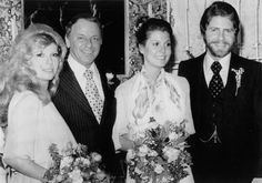 Frank Sinatra and daughter Nancy at the wedding of Tina Sinatra and Wes Farrell, 1974.