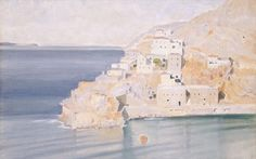 Ύδρα - Κωνσταντίνος Παρθένης Post Impressionism, Impressionist, Greece Painting, France Art, Greek Art, Art Database, Greek Islands, Love Art, Landscape Paintings