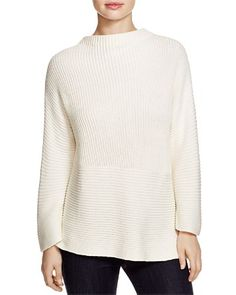 VINCE CAMUTO Ribbed Mock Neck Sweater | Bloomingdale's