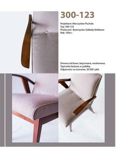 Armchair designed by Mieczysław Puchała. Redesigned by Lekka Furniture. Mid Century Furniture, Accent Chairs, Furniture Design, Retro, Armchairs, Classic, Barbie, Earrings, Home Decor