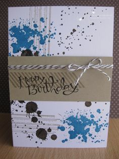Gorgeous Grunge (Masculine) I think I am going to have to invest in this stamp set.  Guy cards are so hard to do.
