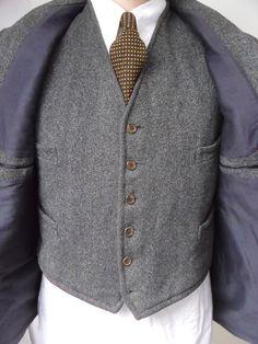 Orig. 1930's German Suit Tweed Jacket Breeches Trousers Anzug 40s Vintage Coat