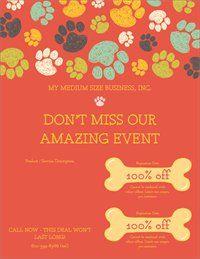 Flyers Templates Designs Page 2 Vistaprint Dog Pinterest